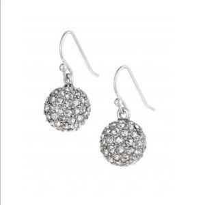 Stella & Dot Silver Crystal Soirée Drop Earring